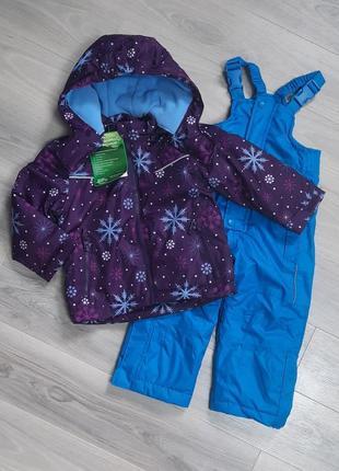 Раздельный зимний комбинезон (куртка + полукомбинезон) pocopiano 86/92 см