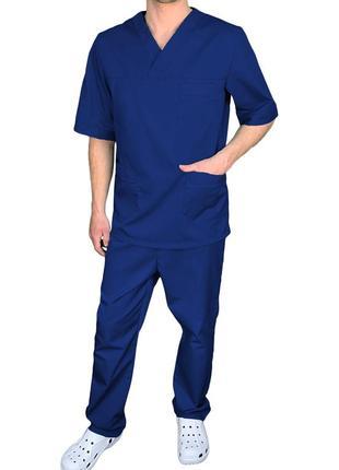 Костюм хирурга медицинский мужской eva trade р44-62, синий