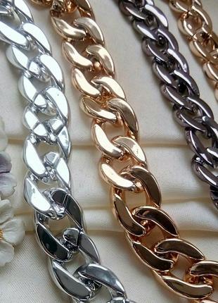 Крупные  цепи 1,6см  ожерелье колье чокер  золото серебро черный