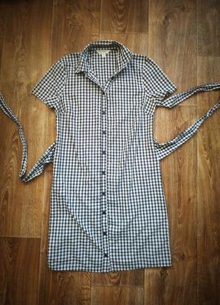 Платье рубашка в клетку