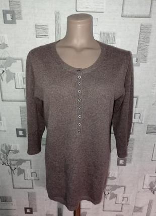 Кашемировая кофта пуловер cashmere collection