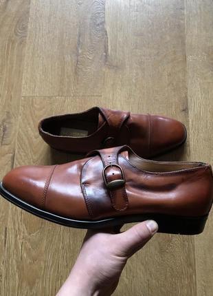 Мужские туфли из кожи оленя