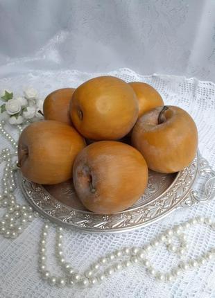 Яблоки декоративные фигурки интерьерные комплект набор лот