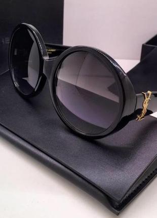 Ysl очки женские солнцезащитные в комплекте с брендовым футляром