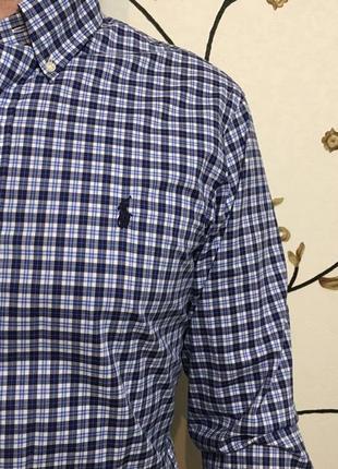 Рубашка в клетку фирменная нарядная