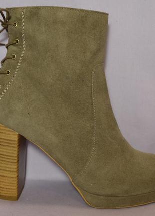 Р39 topshop,испания,100%натуральная кожа!изысканные,уютные ботильоны ботинки полусапоги