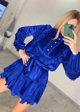 Платье велюровое  оверсайз