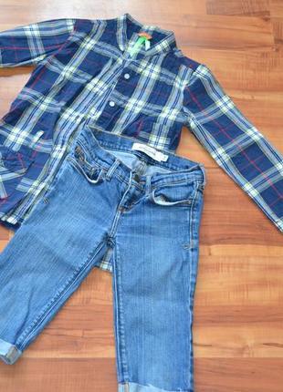 Шикарные джинсовые капри (шорты) abercrombie