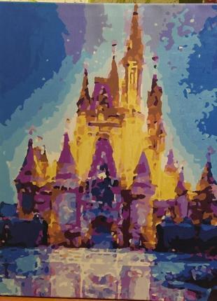 """Готовая картина по номерам """"замок"""""""