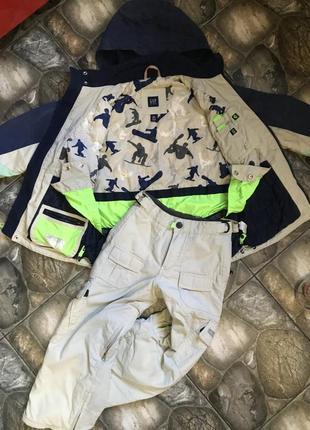 Термо костюм куртка для лыжников 7-8 лет