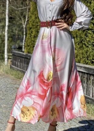 Платье армани шёлк с крупными цветами