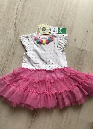 Нарядна сукня боді little me