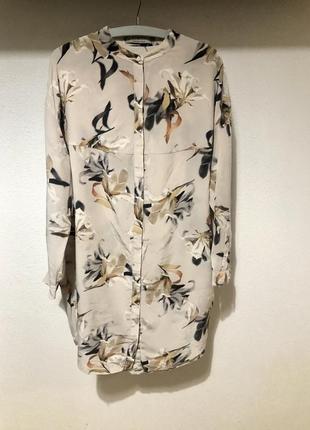 Платье рубашка шелковое allsaints m-l
