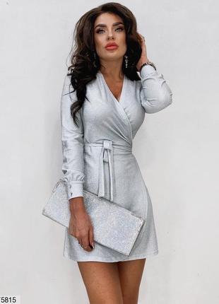 Платье мини люрекс