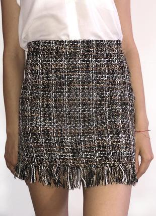 Твидовая юбка в размерах s-l