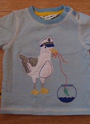 Прикольная футболка на мальчика 3- 6 мес