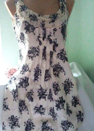 Легкое платье с цветочным принтом,,можно на животик,44-46р.,dorothy perkins,пог от47см