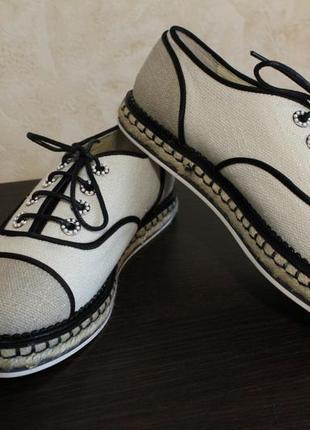 Туфли chanel на шнурках