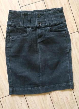 Джинсовая юбка котоновая юбочка