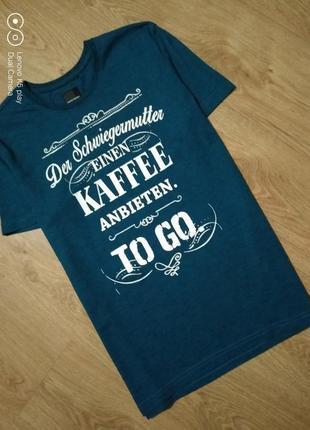 Классная мужская брендовая футболка-l-xl- much more- германия- идеал