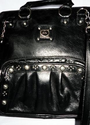 Стильная большая элегантная сумка натуральная кожа suzy smith англия