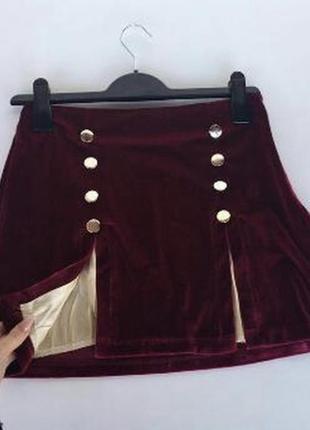 Шикарная эксклюзивная винная юбка