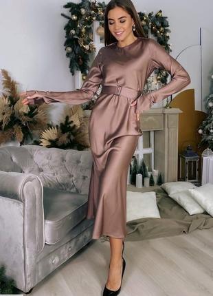 Росскошное платье миди новогоднее шелк армани