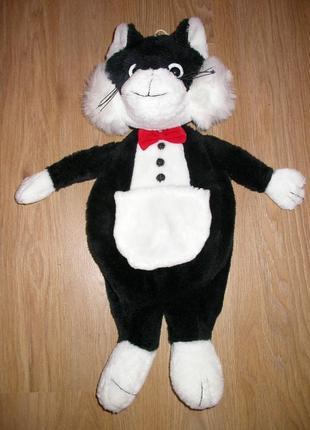 Чехол для детской грелки, меховая игрушка кот.