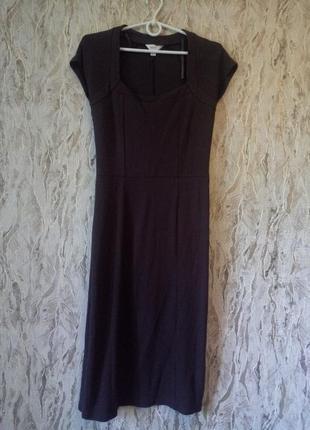 Трикотажное платье миди шоколадного цвета next