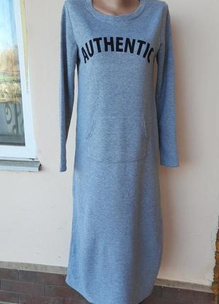 Теплое платье на баечке