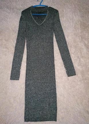 Платье с люрексной нитью