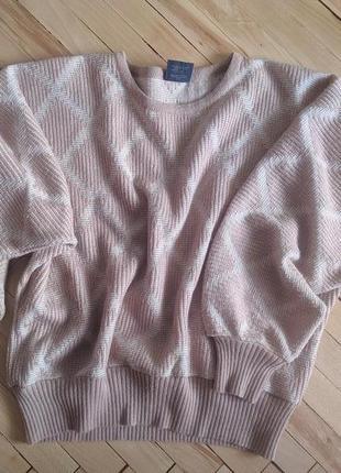 Свитер, кофта, пуловер, объемные рукава, оверсайз, шерсть, шерстяной