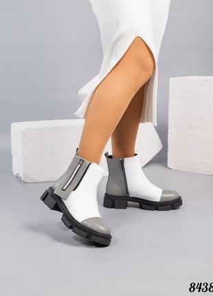 Стильные зимние ботинки натуральная кожа внутренний утеплитель - набивная шерсть код 8438