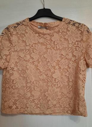 Блуза-футболка гипюровая нежная и стильная