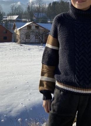 Детский вязаный свитер ручная работа