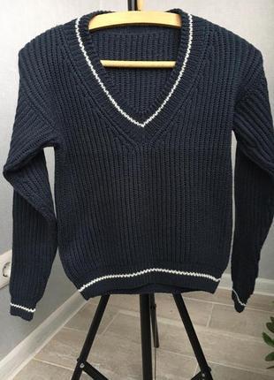 Детский пуловер вязаный ручная работа 7-9 лет