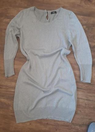 Нежное серебристое платье f&f