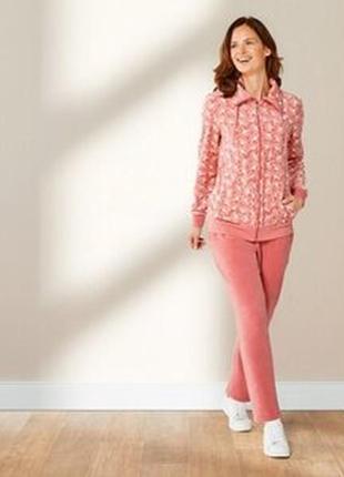 Костюм, женский, спортивный, розовый, велюровый, esmara, размер m