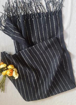 Шаль шарф палантин большой длинный  широкий теплый шерсть