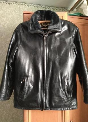 Куртка зимняя мужская кожанная