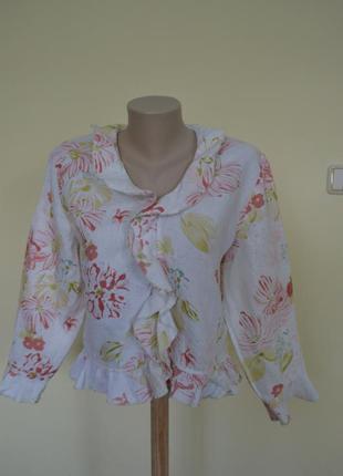 Легкая летняя блуза лен