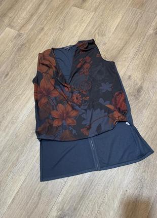 Блузка футболка удлиненная заде