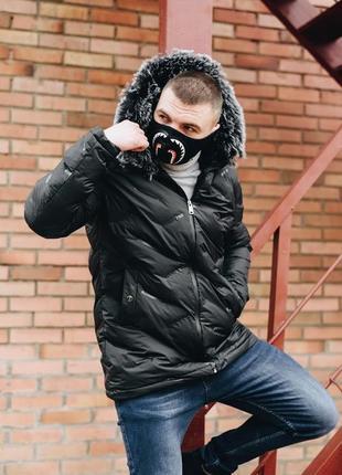 Черная зимняя куртка, производитель турция.