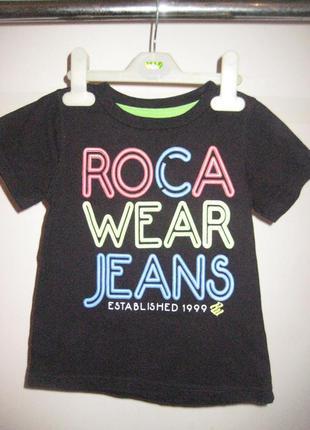 Стильная футболка с надписью черная 3-4 года