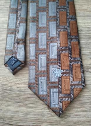 Шелковый галстук от versace