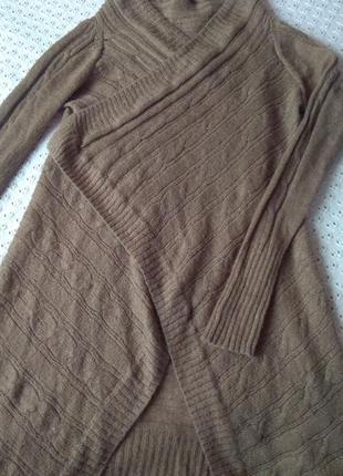 Кардиган mango шерсть мохер накидка с рукавами шерстяная длинная кофта
