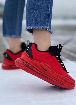 Женские кроссовки nike air max 720 красные термо флис 23,5 см стелька