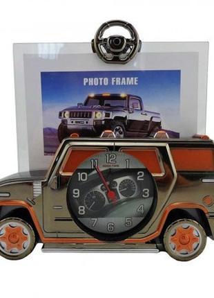 Фоторамка с часами машина - оригинальный подарок