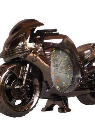Фоторамка с часами мотоцикл - оригинальный подарок байкеру