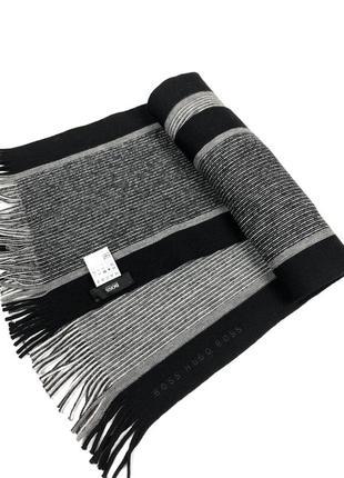 Hugo boss шарф шерстяной новый